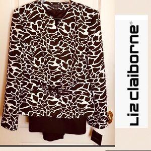 LIZ Claiborne NWT 2 Pc Suit Brown Size 16